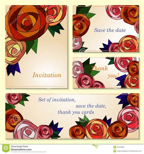 invitation save  date cards  mosaic roses royalty