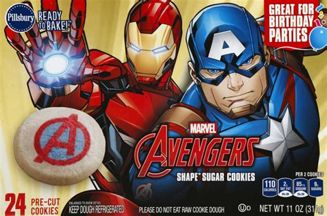 True story, one day i made 2 layer cakes, a batch of brownies. Pillsbury Ready to Bake Marvel Avengers Shape Sugar ...