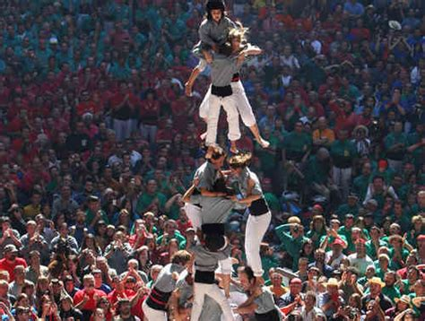 spains amazing human castells towers kids news article