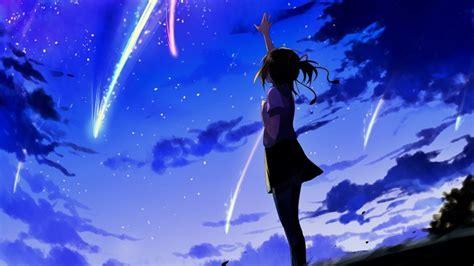 Kimi No Na Wa Background Your Name Anime Girl Night Sky Scen Wallpaper 12416