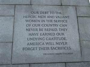 National World War II Memorial Quotes