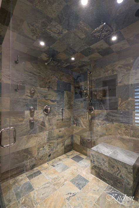large bathroom remodel  classic tub  stone tiled