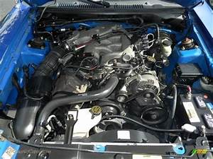 2000 Ford Mustang V6 Coupe In Bright Atlantic Blue