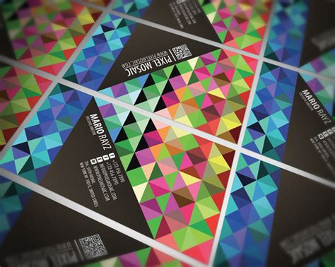 pixel mosaic business card lemon graphic singapore