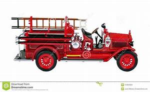 Vintage Fire Engine Stock Photo  Image Of Emergency  Replica