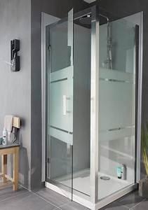 porte de douche pivotante en verre lapeyre photo 4 20 With porte douche en verre