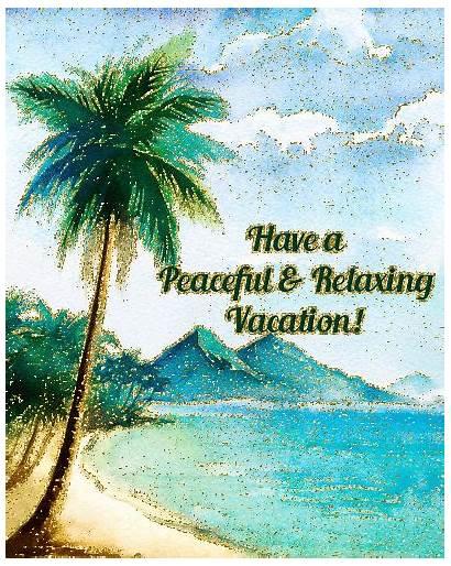 Vacation Greetings Peaceful Voyage Bon Card Ecards