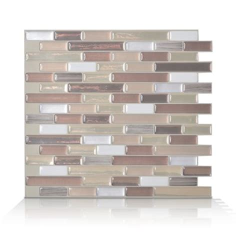 smart tiles 6 pack 9 x 10 muretto durango peel and stick