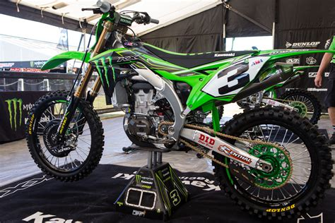 monster energy motocross eli tomac 39 s monster energy kawasaki kx450f vital mx pit