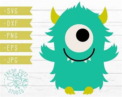 Monster Svg Silhouette Silly Eyed Instant Cricut