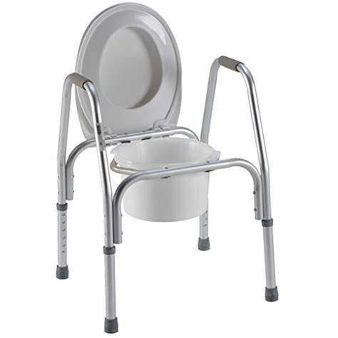 raised toilet seat w safety frame three in one bedside