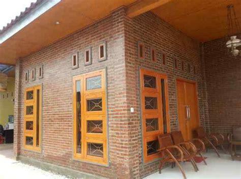 contoh gambar rumah  dinding bata merah rumah