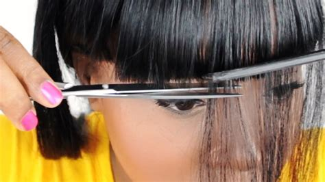 cut chinese bangs   full sew  tutorial