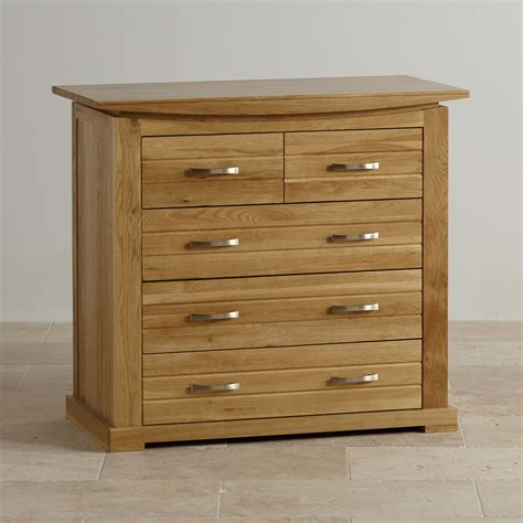 Tokyo Natural Solid Oak 3 2 Chest of Drawers