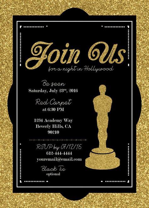 Hollywood / Oscar Party Invitation Academy Awards Invite