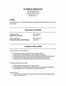 examples of resumes a sample resume for internship With show me a simple resume