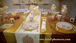 Dcoration De Table De Noel Or Arts Ephmres YouTube