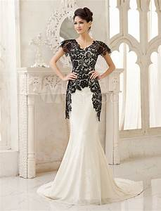 black mermaid bridal gown v neck lace sweep velvet wedding With velvet wedding dress