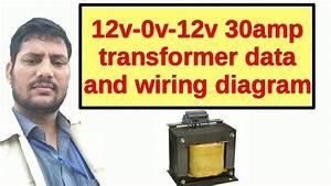 12v-0v-12v 30amp Transformer Data And Wiring Diagram
