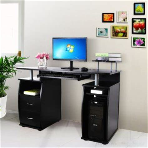 bureau fermé pour ordinateur songmics bureau informatique table informatique meuble