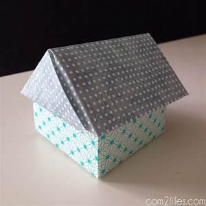 Origami Maison En Papier : diy des boites en forme de maison en papier origami ~ Zukunftsfamilie.com Idées de Décoration