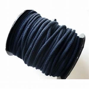 Corde Au Metre : corde coton 5mm bleu marine couture macram bijoux ~ Edinachiropracticcenter.com Idées de Décoration