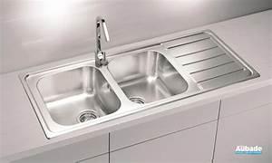 evier de cuisine reversible en inox moderna line espace With salle de bain design avec evier en inox