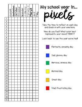 year in pixels template year in pixels by ms atzmon teachers pay teachers