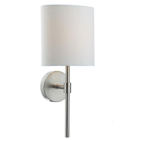 modern wall light with black fabric shade and led reading