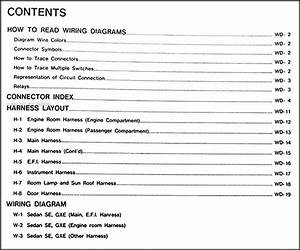1989 Nissan Maxima Wiring Diagram Manual Original