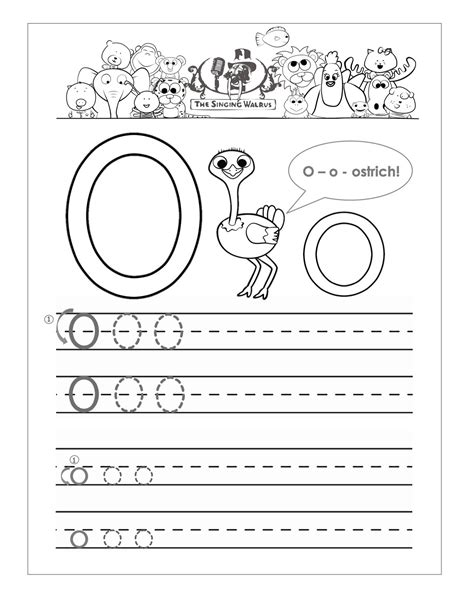 worksheets for kindergarten letter o 7