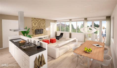 home 3d cuisine interieur impressie appartementen
