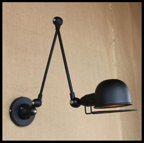 e14 vintage l jielde black metal 2 arms industrial wall