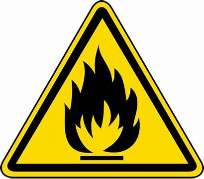 Hazard Flammable Warning Label Symbol Sign Signs