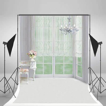 Bedroom Photography by Hellodecor Polyster 5x7ft Indoor Bedroom Backgrounds White