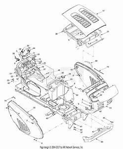Troy Bilt 14az809h063 Gtx2446  2003  Parts Diagram For Hood Style 9