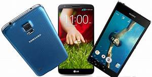 Samsung Galaxy S5 clashes with the Sony Xperia Z2 and LG G2