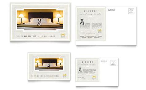 pet hotel spa postcard template design