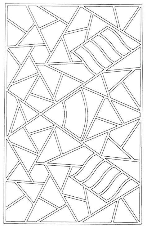 simple mosaic coloring pages  getcoloringscom  printable colorings pages  print  color