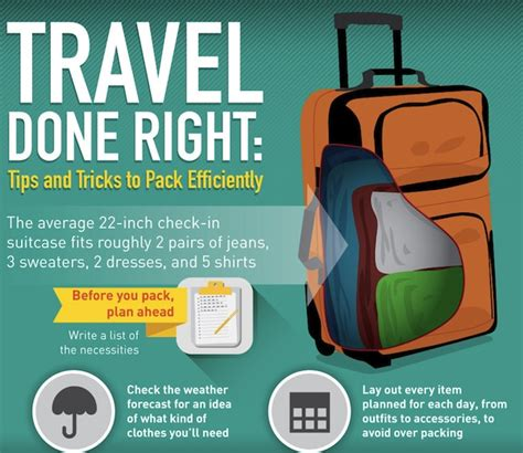 Tips Dan Trik Packing Efisien (infografis)  Backpacker Site
