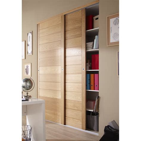 porte de placard coulissante ch 234 ne naturel spaceo 250x97cm leroy merlin