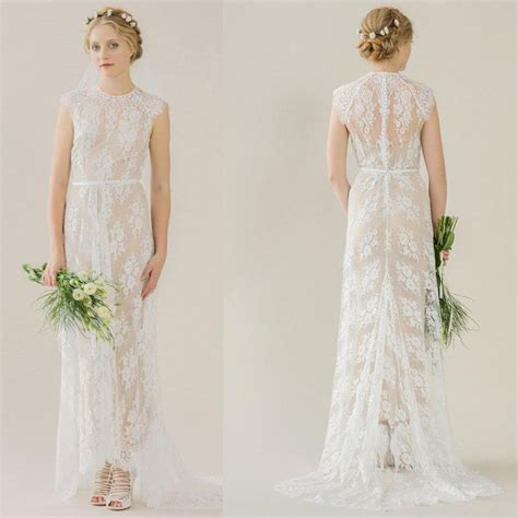 plus size shift dress see through lace wedding gowns bohemian wedding