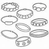 Bracelet Coloring sketch template