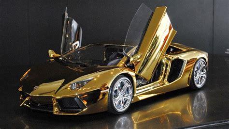 worlds  expensive model car golden lamborghini youtube