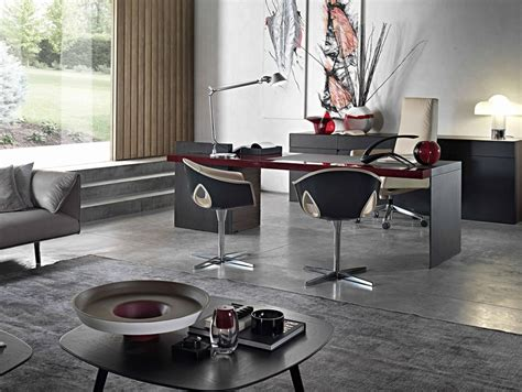 Executive Desk H_o Desk Lac By Poltrona Frau Design
