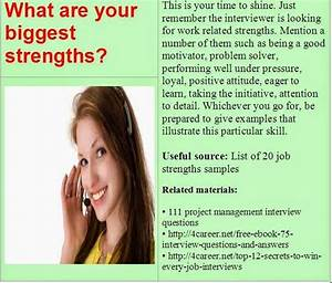 Call Centre Resume Sample What Are Your Biggest Strengths Job Interview Answers