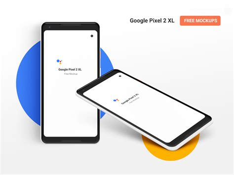 Designed and shared by roman kryzhanovskyi. Google Pixel 2 XL Free PSD mockup. Front and Isometric ...