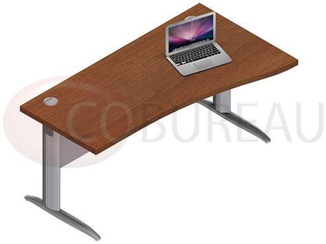 bureau pro bureau vague pro métal 160 cm pieds en l