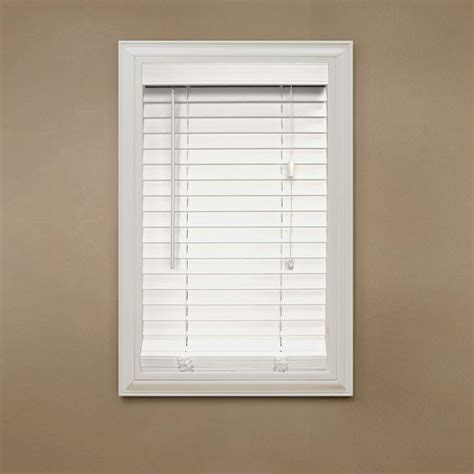 white faux wood blinds home decorators collection cut to width white 2 in faux
