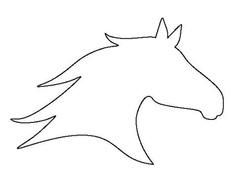 printable horse head template